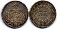 1000 Reis 1860 Brazil / Brasilien Pedro II vzgl  40,00 EUR