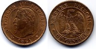 1 centime 1861 BB France / Frankreich Napoleon III Stgl  80,00 EUR