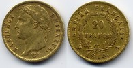 20 Francs 1814 A France / Frankreich Napoleon Bonaparte Sehr schön  320,00 EUR