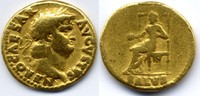 AV Aureus 65-66 AD Roman Empire / Römische Kaiserzeit Nero 54-68 AD Seh... 2000,00 EUR  zzgl. 15,00 EUR Versand