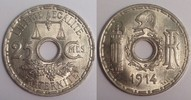 25 centimes 1914 Frankreich / France Essai de Becker fast Stgl  160,00 EUR  zzgl. 10,00 EUR Versand