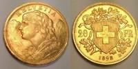 20 Franken 1898 Switzerland / Schweiz Vreneli fast Stgl  340,00 EUR  zzgl. 12,00 EUR Versand