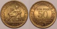 50 centimes 1924 France / Frankreich Republic Stgl  60,00 EUR  zzgl. 10,00 EUR Versand