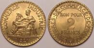 2 Francs 1923 1921 France / Frankreich Republic fast Stgl  30,00 EUR  zzgl. 6,00 EUR Versand