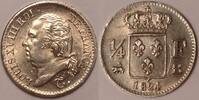 1/4 Franc 1824 B France / Frankreich Louis XVIII gutes vzgl  260,00 EUR  zzgl. 12,00 EUR Versand
