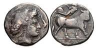 Nomos / didrachm c:a 300 BC Campania / Kampanien Neapolis - Nymph & Dol... 220,00 EUR  zzgl. 12,00 EUR Versand