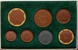 Meissen / Sachsen 20 Mark bis 20 pfennig Originaletui mit 7 Porzellanmuenzen