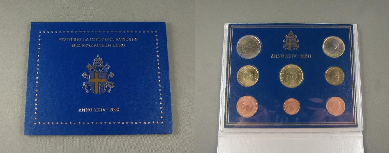 Vatikan Kursmünzensatz 2002 Kms