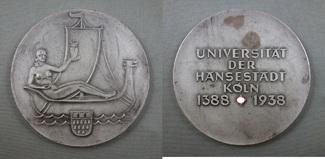 1938 3.Reich VERSILBERTE BRONZEMEDAILLE D...