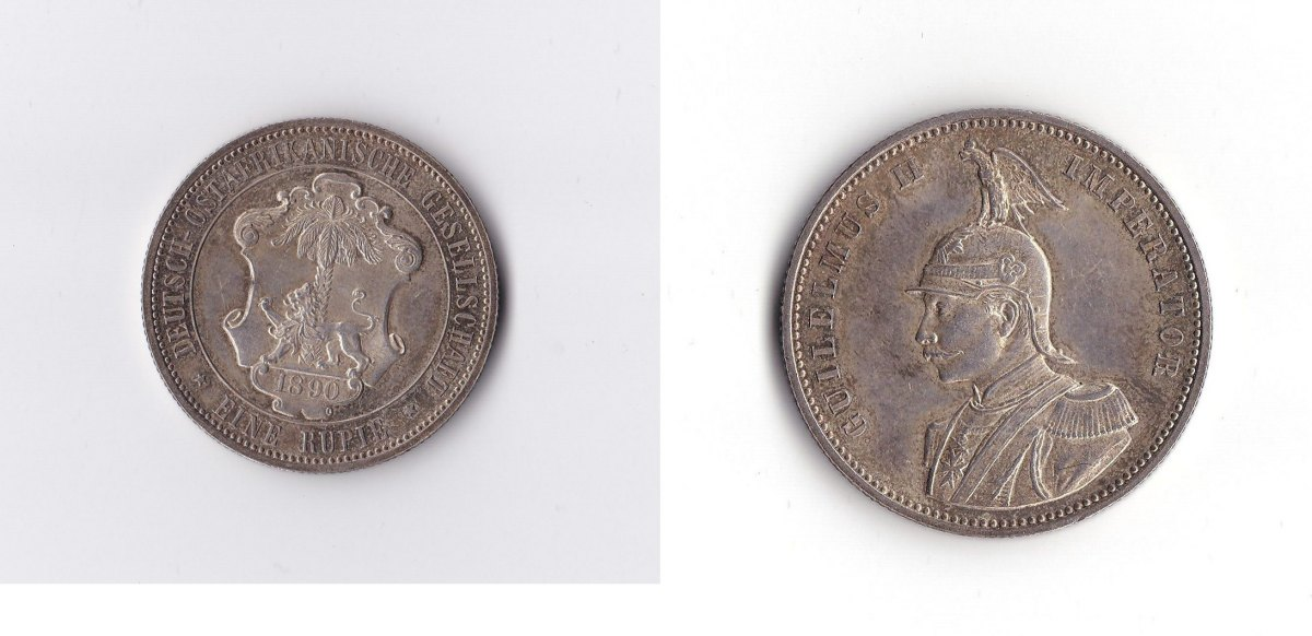 1 Rupie Deutsch-ostafrika 1890 Deutsches Reich Deutsch-ostafrika Silb