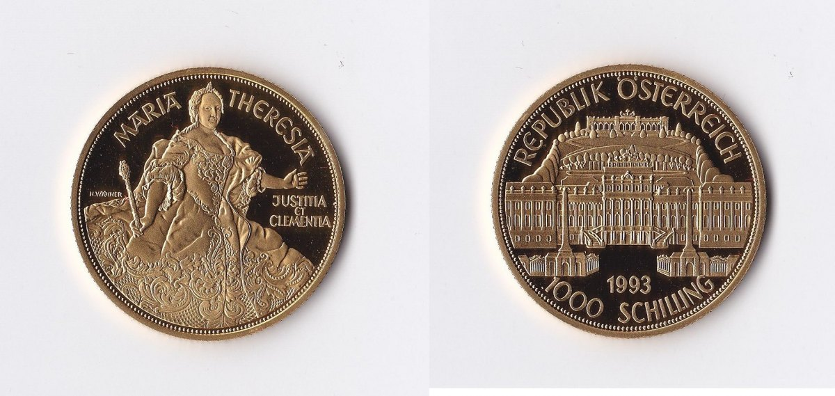 Österreich 1000 Schilling Gold 1996 Maria Theresia