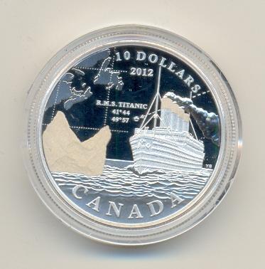 10 Dollar, 2012, Titanic 1912-2012, Silber, Pp Kanada, Canada