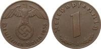 1 Pfennig 1936 J Drittes Reich  fast vorzüglich  55,00 EUR