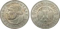 2 Mark Luther 1933 A Drittes Reich  vorzüglich / Stempelglanz  39,00 EUR