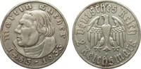 2 Mark Luther 1933 F Drittes Reich  gutes sehr schön  22,00 EUR