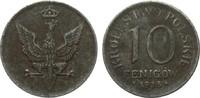 10 Fenigów 1918 F Kolonien und Nebengebiete  l. korrodiert, sehr schön  18,00 EUR