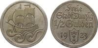 1/2 Gulden Danzig 1923 Kolonien und Nebengebiete  fast vorzüglich  45,00 EUR