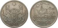 1 Gulden Danzig 1923 Kolonien und Nebengebiete  besser als vorzüglich  89,00 EUR