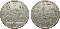 2 Gulden Danzig 1923 Kolonien und Nebengebiete  kl. Kratzer, besser als... 135,00 EUR