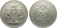 5 Mark Hamburg 1896 J Kaiserreich  sehr schön  265,00 EUR