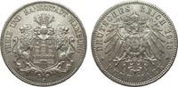 5 Mark Hamburg 1913 J Kaiserreich  kl. Randfehler, vorzüglich  65,00 EUR