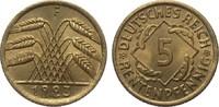 5 Rentenpfennig 1923 F Weimarer Republik  fast Stempelglanz  215,00 EUR