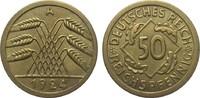 50 Reichspfennig 1924 A Weimarer Republik  besser als vorzüglich  1650,00 EUR