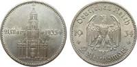 2 Mark Kirche 1934 E Drittes Reich  min. berieben, vz+  35,00 EUR