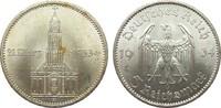 5 Mark Kirche mit Datum 1934 A Drittes Reich  vorzüglich / Stempelglanz  75,00 EUR