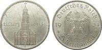 5 Mark Kirche mit Datum 1934 E Drittes Reich  wz. Randfehler, fast vorz... 29,00 EUR