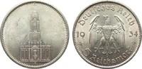 5 Mark Kirche ohne Datum 1934 F Drittes Reich  vorzüglich / Stempelglanz  35,00 EUR