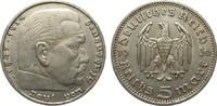 5 Mark Hindenburg ohne Hk. 1936 D Drittes Reich  sehr schön  10,00 EUR