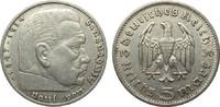 5 Mark Hindenburg ohne Hk. 1936 G Drittes Reich  sehr schön  10,00 EUR