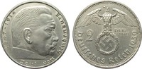 2 Mark Hindenburg 1939 A Drittes Reich  fast vorzüglich  5,00 EUR