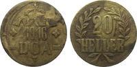20 Heller 1916 T Kolonien und Nebengebiete  sehr schön  14,00 EUR
