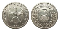 3 Mark Kursmünze 1931 E Weimarer Republik  gereinigt, sehr schön  315,00 EUR