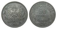 50 Pfennig 1896 A Kaiserreich  Patina, fast Stempelglanz / Stempelglanz  475,00 EUR