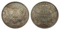 50 Pfennig 1898 A Kaiserreich  min. Randfehler, besser als vorzüglich  350,00 EUR