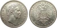 2 Mark Bayern 1883 D Kaiserreich  Bildseite wz. Haarlinien, fast Stempe... 1195,00 EUR
