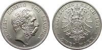 2 Mark Sachsen 1876 E Kaiserreich  fast Stempelglanz  1495,00 EUR