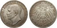 3 Mark Mecklenburg-Strelitz 1913 A Kaiserreich  fast Stempelglanz  2150,00 EUR