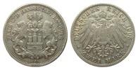 2 Mark Hamburg 1905 J Kaiserreich  f.ss  /  ss  55,00 EUR