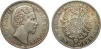 2 Mark Bayern 1876 D Kaiserreich  gutes vorzüglich  345,00 EUR