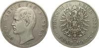 5 Mark Bayern 1888 D Kaiserreich  knapp sehr schön  325,00 EUR