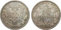 50 Pfennig 1902 F Kaiserreich  fast Stempelglanz  625,00 EUR
