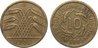 10 Pfennig 1932 G Weimarer Republik  etw. fleckig, gutes sehr schön  895,00 EUR