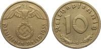 10 Pfennig 1936 G Drittes Reich  Wertseite Kratzer, sonst ss+  285,00 EUR