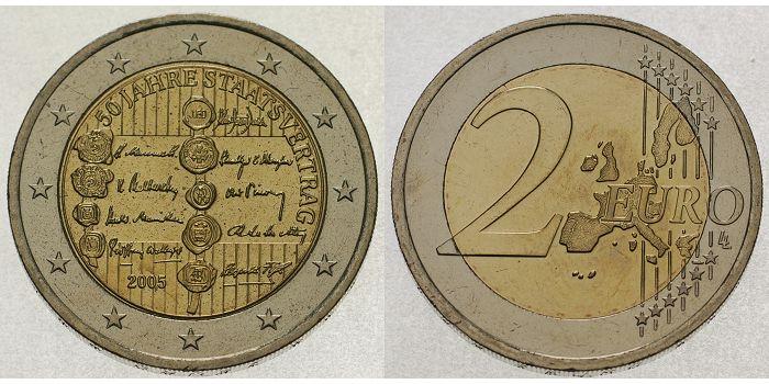 50 J Staatsverträge Österreich 2 Euro 2005