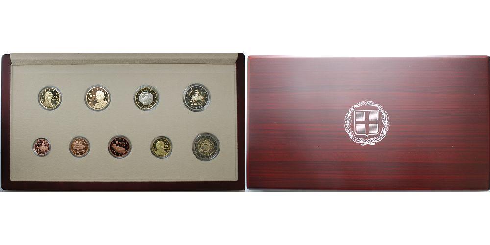 Kursmünzensatz, mit 2 Euro Gedenkmünze Einführung des Euro-bargeld Se