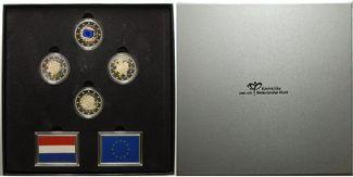 4 x 2 Euro 2015  Niederlande EU - Flagge, ...
